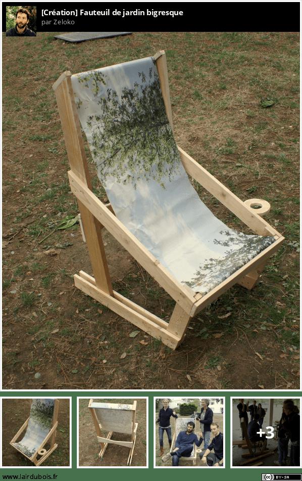 Une table et un fauteuil de jardin bigresque Sticker