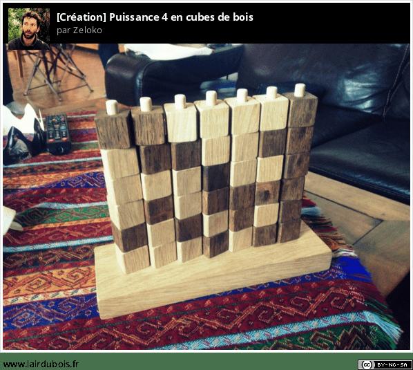 Puissance 4 en cubes de bois Sticker