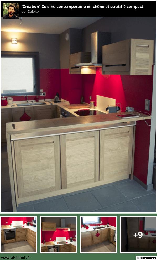 Fabrication d'une cuisine contemporaine en chêne et stratifié compact - Page 3 Sticker