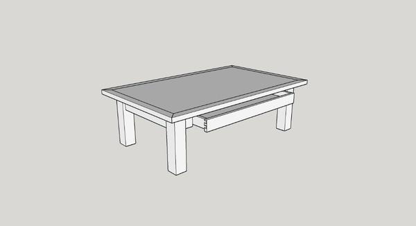 Une table basse en frêne