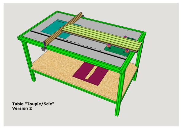 Plan table pour scie circulaire et d fonceuse version 2 - Scie circulaire sur table bois de chauffage ...