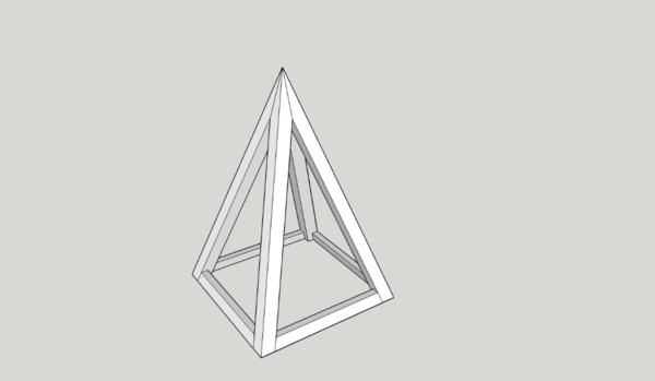 Entrainement arêtier la pyramide