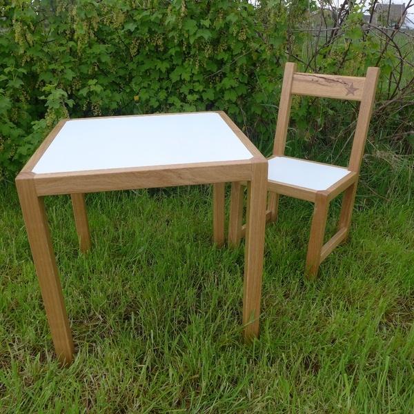 Table et chaise pour enfant par jul sur l 39 air du bois - Table et chaise pour enfant ...