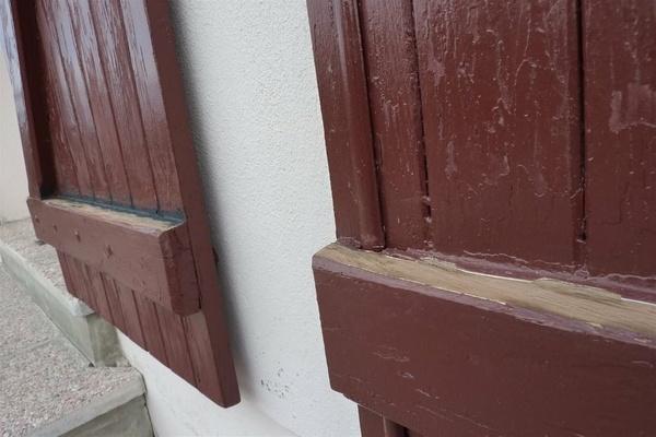 Pente sur barres de volets  et degondage  pour peinture