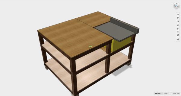 Un établi pour ma scie sur table