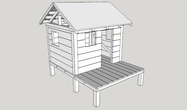 plan cabane d 39 enfant par ninjarouge sur l 39 air du bois. Black Bedroom Furniture Sets. Home Design Ideas