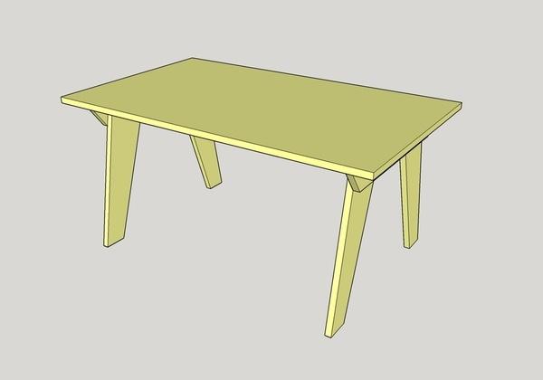 Table de bureau en 3 plis