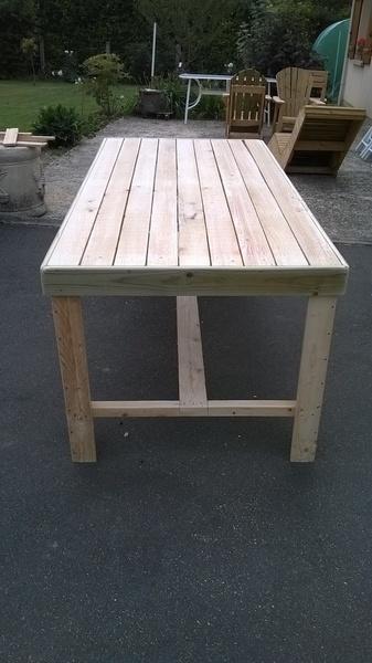 Table et chaises en bois de palette par tintin45 sur l 39 air Chaise en bois de palette