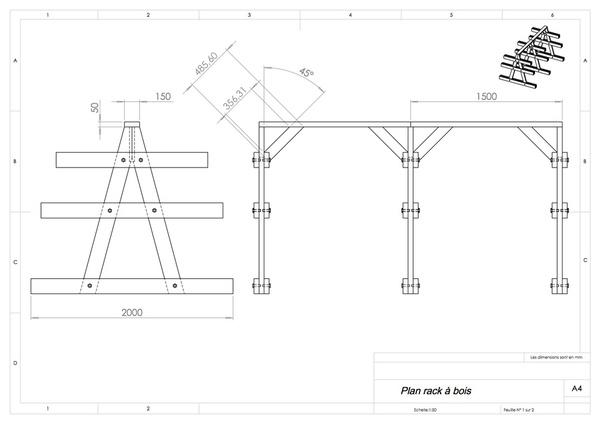 Plan Rack à bois