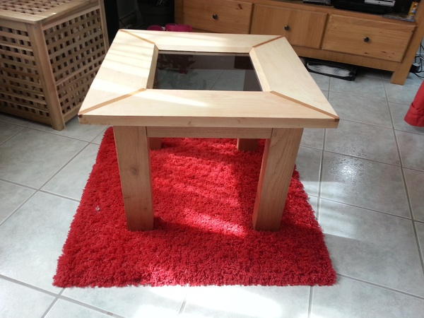 Table basse hetre chene