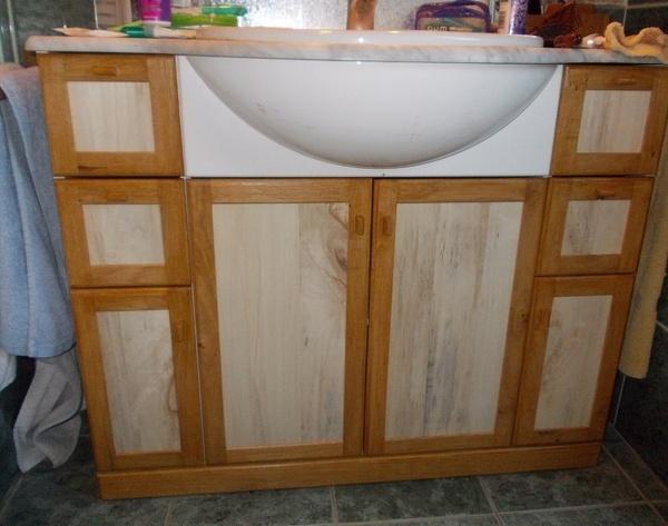 Ré habillage de meuble de salle de bain