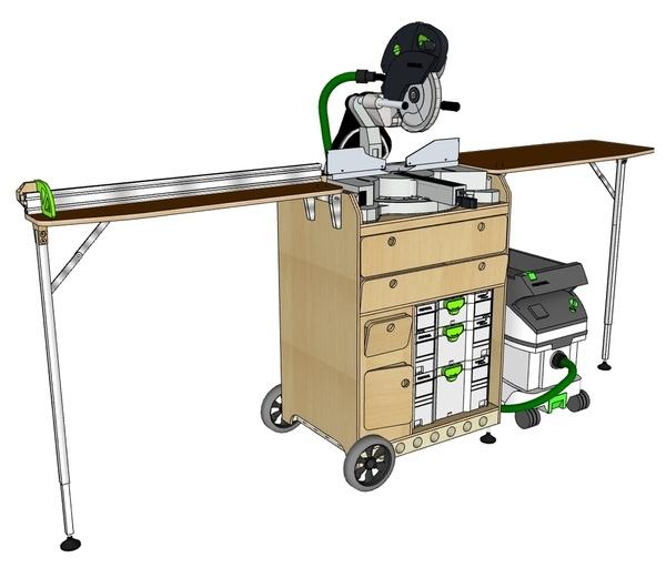 plan une servante pour la kapex 120 de chez festool par mig sur l 39 air du bois. Black Bedroom Furniture Sets. Home Design Ideas