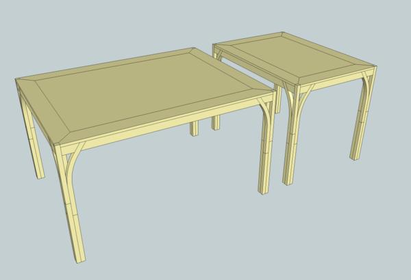 """Les deux tables en version """"haute"""""""
