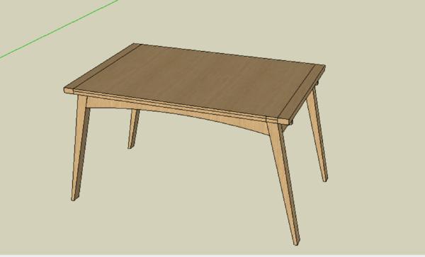 Table à rallonges par bout