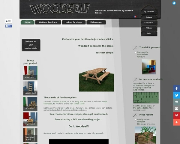Site pour faire des meubles ...