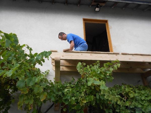 Balcon et son escalier