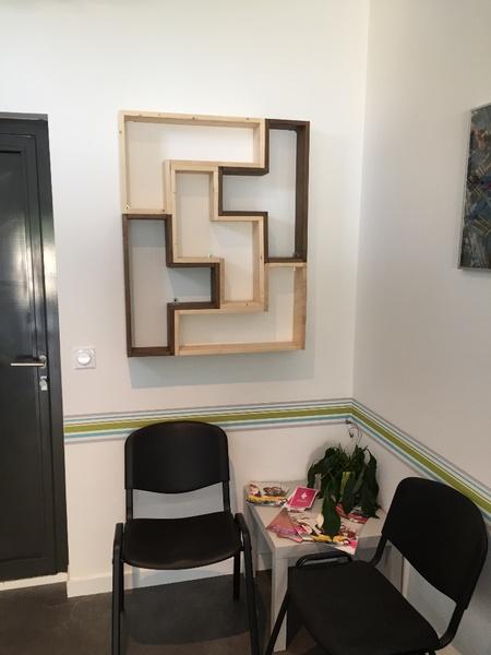 Bibliothèque murale Tetris