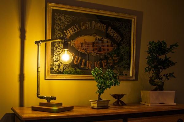 Lampe Bois - Métal DIY