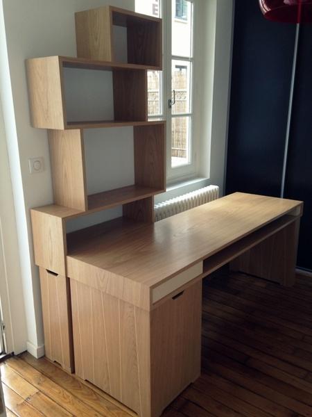 Ensemble bureau et bibliothèque