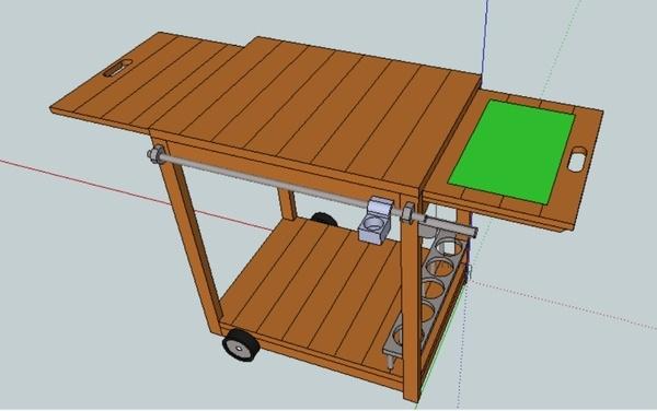 Plan desserte plancha par toutikini sur l 39 air du bois - Fabriquer desserte plancha ...