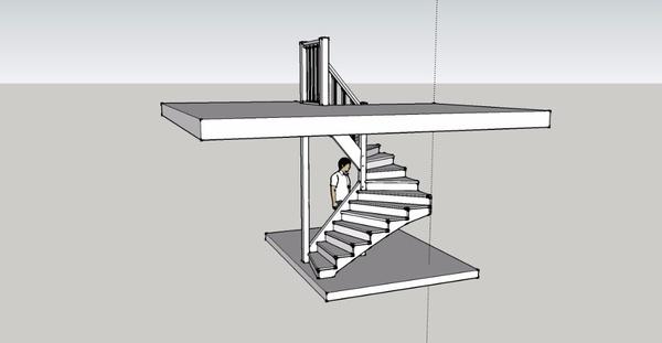 Escalier rampe sur rampe