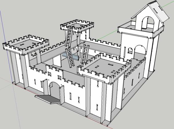 Chateau Fort, découpe laser