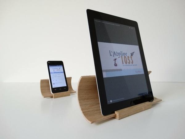 Support courbé amplifictateur pour tablette - smartphone