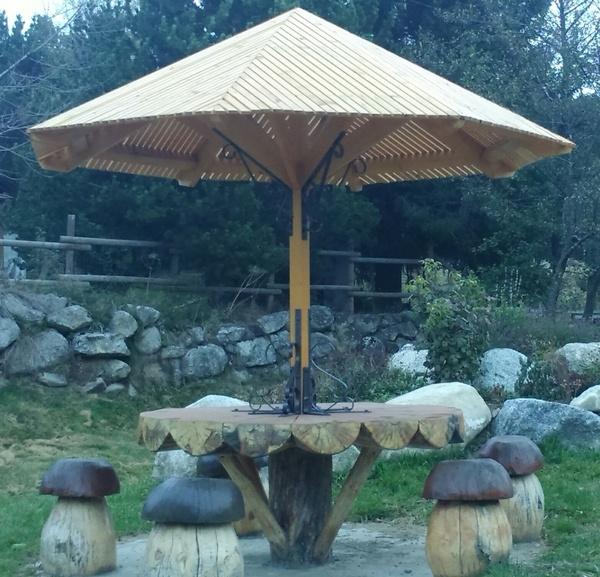 Pied De Parasol Abri Jardin Bois France