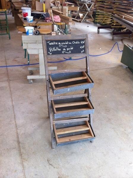 Refabrication d'un présentoirs