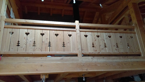 Barriére de mezzanine en douglas