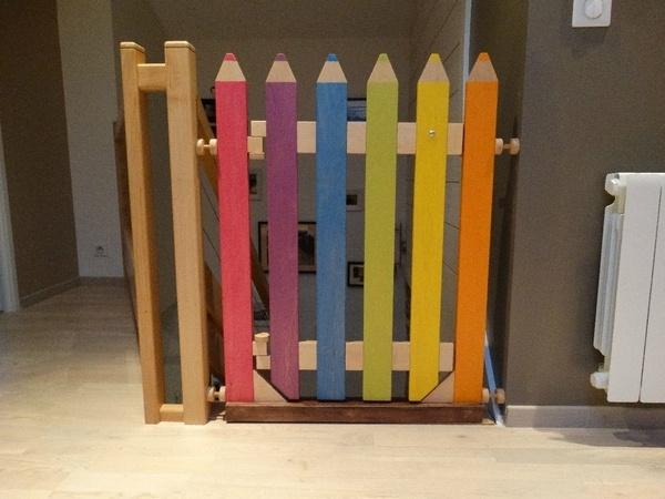 Barri re escalier crayon par l atelier1053 sur l 39 air du bois - Barriere de securite haut d escalier ...