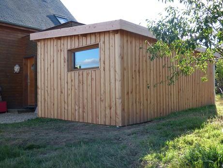 Abri de jardin en douglas naturel par jardi bois création sur L ...