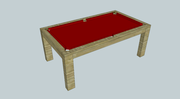 Plan billard table salle manger par fabio38 sur l 39 air du bois - Table de billard transformable en table de salle a manger ...