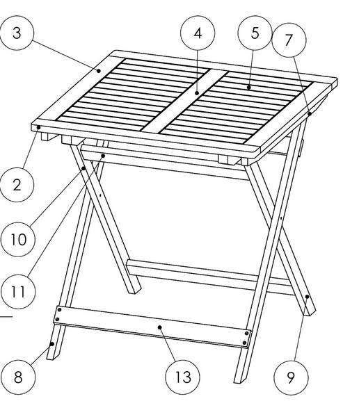 Petite table de balcon