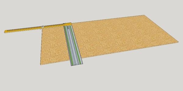 Butée pour coupes répétitives pour scie sur rail