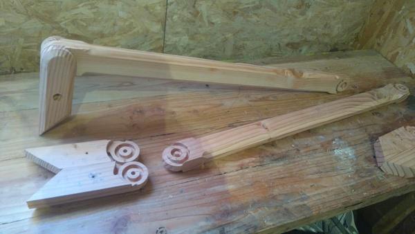 Charniere en bois