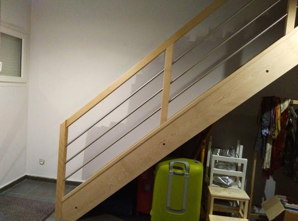 escalier droit avec contremarche par zebulette sur l 39 air du bois. Black Bedroom Furniture Sets. Home Design Ideas