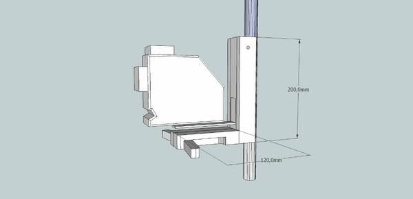 Support pour laser, à poser au sol ou sur perche
