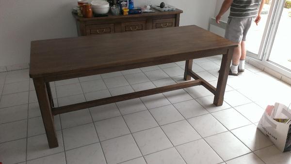 table en lam ll coll ch ne par alexis sur l 39 air du bois. Black Bedroom Furniture Sets. Home Design Ideas