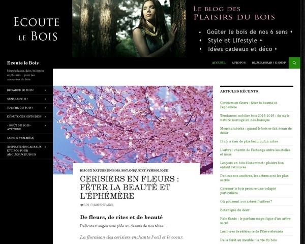 Un blog sur le bois et les plaisirs des 5 sens