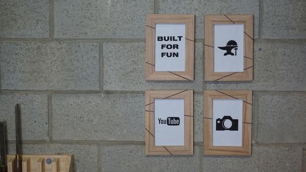 fabriquer des cadres photos en bois par built for fun sur. Black Bedroom Furniture Sets. Home Design Ideas