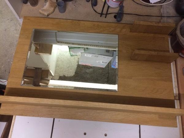 Miroir en chêne lamellé collé