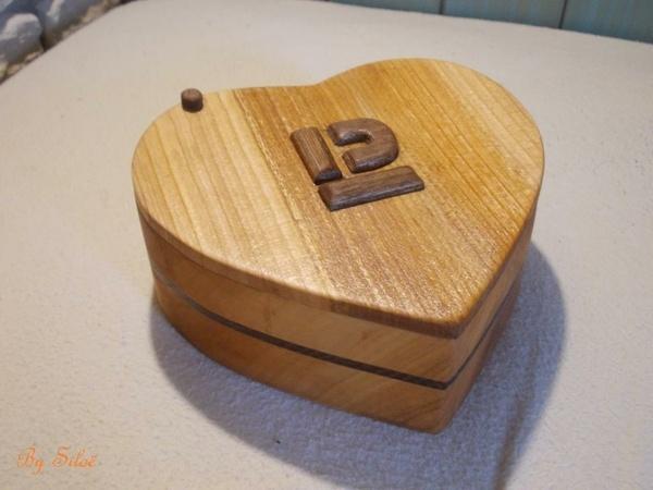Petite boîte en forme de coeur