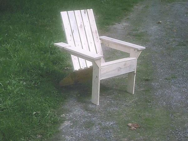 Fauteuil de jardin par emile587 sur l 39 air du bois for Fabriquer fauteuil jardin