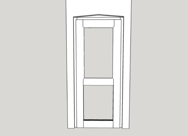 Croisement porte et fenêtre