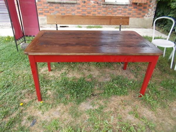 renovation d 39 une table par aux bois indociles sur l 39 air du bois. Black Bedroom Furniture Sets. Home Design Ideas