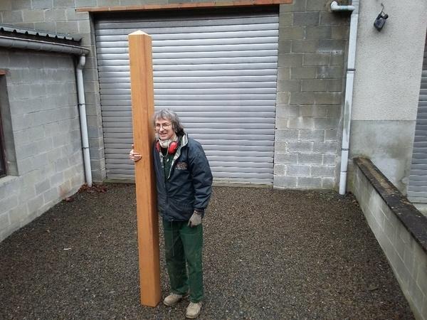 Poteaux pour cl ture de jardin par amiducheval sur l 39 air for Poteaux de rugby pour jardin