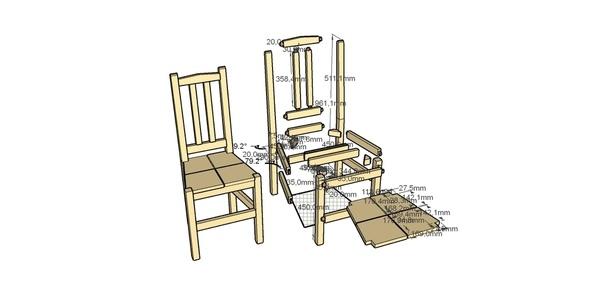 [Plan] Chaise salon bois blanc par theodoremarcus31 sur L ...