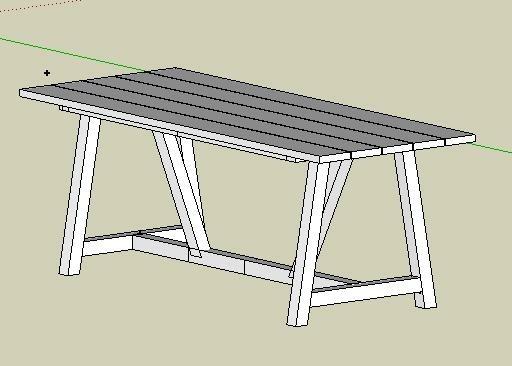 Plan] Table jardin par Atelier du Bois Vert sur L\'Air du Bois