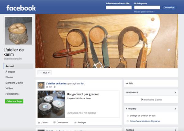 Ma page de partage